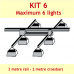 KIT 6 - 3 mt rail - 4 to 6 lights